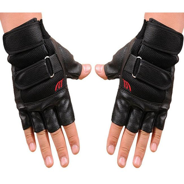 Перчатки Men Gym Exercise Training Sport Gloves Fitness Sports Half Finger Leather Gloves Перчатки Мужские Перчатки Кожаные #25