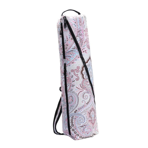 Yoga Mat Carry Bag Full Zip with Multiple Storage  Adjustable Strap