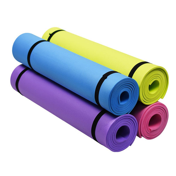 4MM Yoga Mat Elaborate Manufacture Prolonged Durable Non-slip Blanket Gym Home Lose Weight Pad Fitness Exercise Equipment