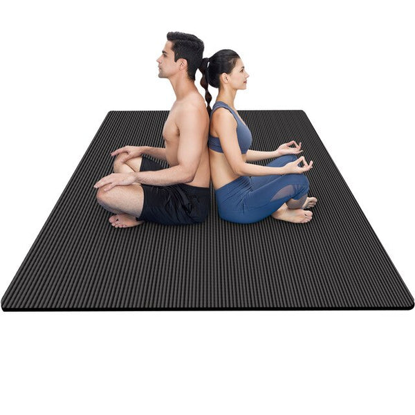 200*130cm Yoga Mat 15mm Extra Thick  NBR  Exercise Sport Mats Thicken, Widen And Lengthen Non-Slip For Gym Home Fitness