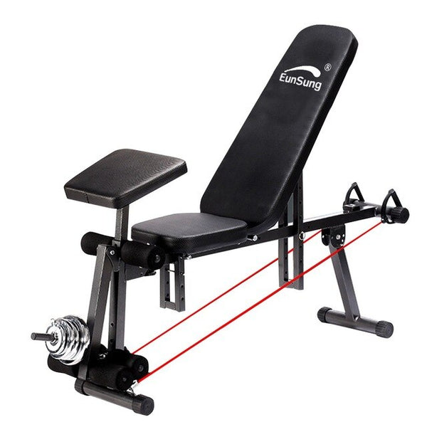 Adjustable Weight Bench Household Fitness Workout Exercise Training Equipment Adjustable Stool Dumbbell Bench Sit Up Stool#HWC
