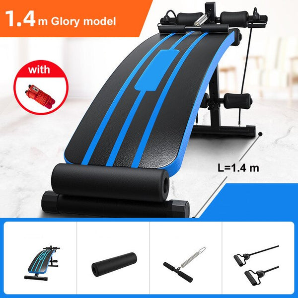 Household Exercise Bench Support Sit - Up Trainer Home Gym Fitness Equipment Foldable Abdominal Bench Board Upgrade