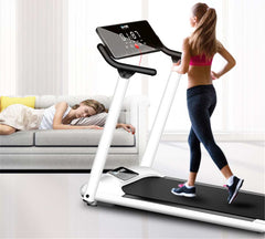 Household Running Machine Folding Treadmill With Armrest   Multifunctional Folding Walking Machine Indoor Exercise Fitness Equip
