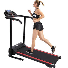 1100w Folding Treadmill With Device Holder, Shock Absorption And Incline Multifunction Sports Gym Exercise Equipment Training