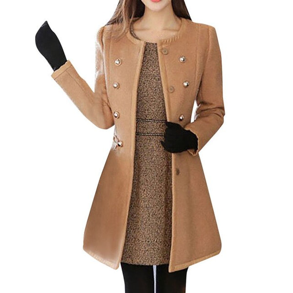 Women Jacket Winter Warm Outwear Wool Lapel Trench Parka Coat Jacket Overcoat Stylsihwi Office Jacket Outwear Женская Куртка