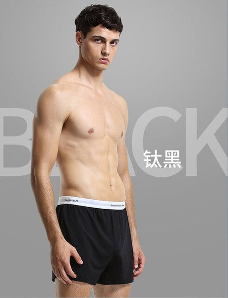 60s Modal Man's Home Shorts Pants Comfort Skin-friendly Mens Summer Leisure and Relaxed Household Shorts Sleep Bottoms