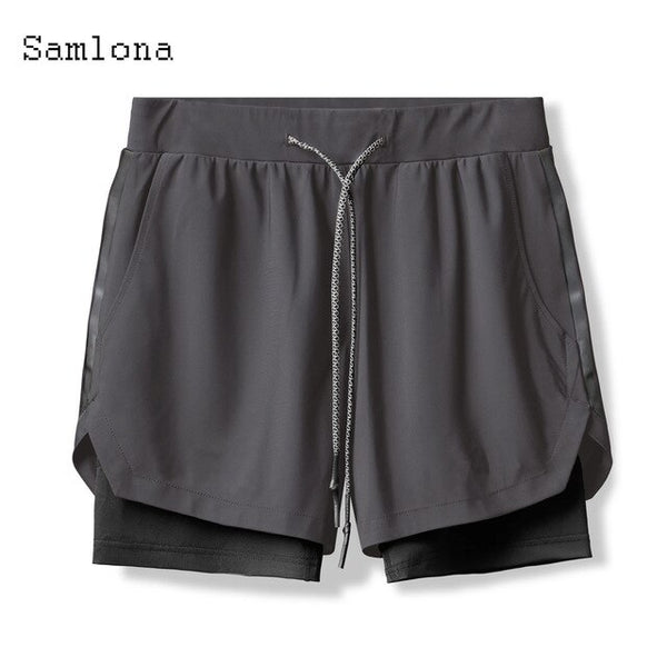 Samlona Leisure Shorts Basketball Training Run Sweatpants Men Quick dry Loose Breathable Short Homme Trend Camo Short Bottom