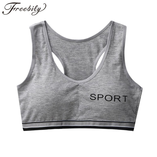 Teens Girls Cotton Training Bra Young Girls Sports Bra Undies Seamless Teenager Sport Underwear Puberty Teen Bralette Sport Bra