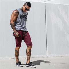 2020 Summer Men Bodybuilding Tank Tops Gym Workout Fitness Cotton Sleeveless Shirt Running Clothes Stringer Singlet Casual Vest