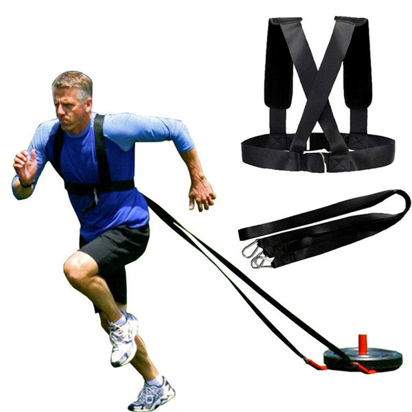 Adjustable Sled Harness Training Fitness Equipment Elastic Exerciser Tire Pulling Speed Training Band Resistance Band