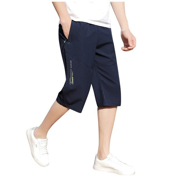 Summer Casual Shorts For Men Sports Bodybuilding Solid Zipper Pocket Flexible Waist Shorts Men Bermuda Masculina Ma6