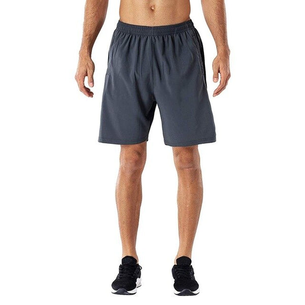 Men Sport Shorts For Gym Quick-drying Running Shorts With Zip Pockets Summer Sports Training Jogging Short Pants Ma6