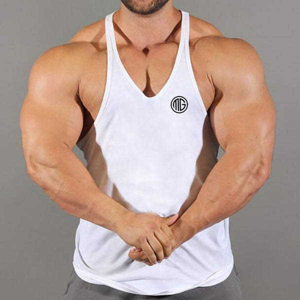 Brand Mens Gyms  Tank Tops Bodybuilding Stringer Tanktop Fitness Men Sleeveless Shirts O-Neck Y Back Tank Top men workout Vest
