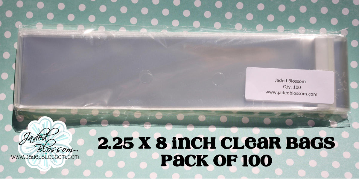 2.25 x 8 Inch Clear Bags