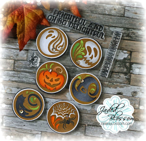 Halloween Coffee Art
