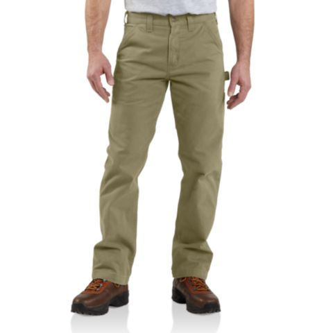 CARHARTT WASHED TWILL RELAXED FIT WORK PANT B324 DARK KHAKI