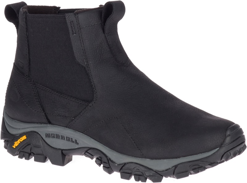 MERRELL MEN'S MOAB ADVENTURE CHELSEA WATERPROOF BLACK