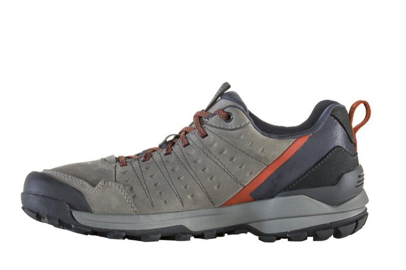 OBOZ MEN'S SYPES LOW LEATHER WATERPROOF IN STEEL COLOR