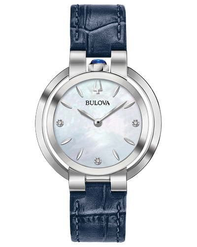 Bulova Rubaiyat Quartz Mother of Pearl Dial Ladies Watch 96P196