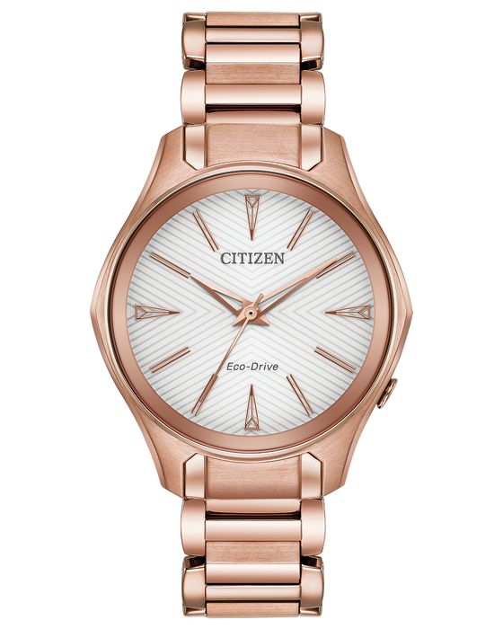 Citizen Modena White Dial Rose Gold-tone Ladies Watch EM0593-56A