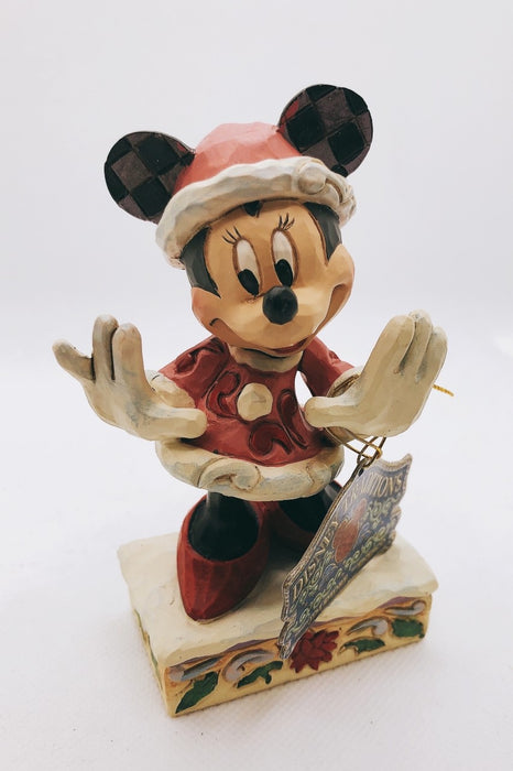 Disney Minnie Mouse Christmas Figurine