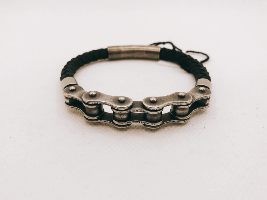 TAMAR Steel Leather Bracelet