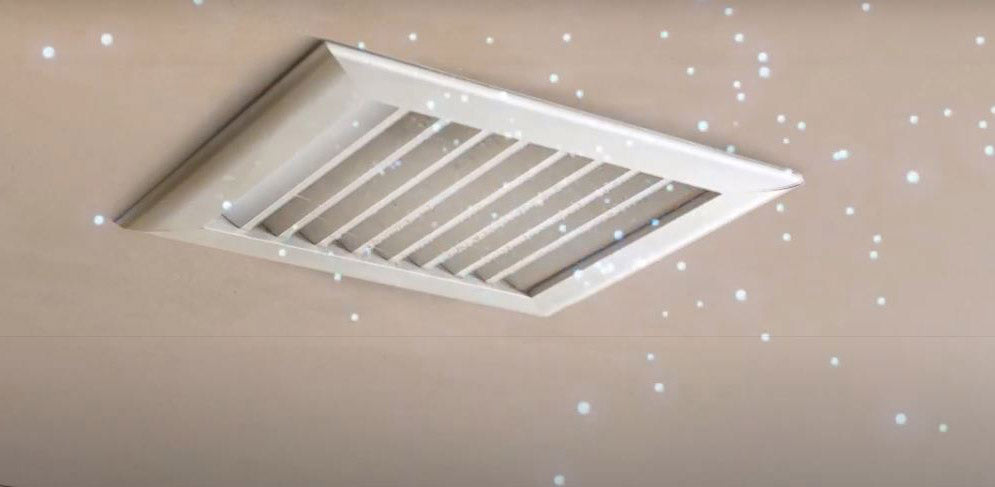 air vent on ceiling