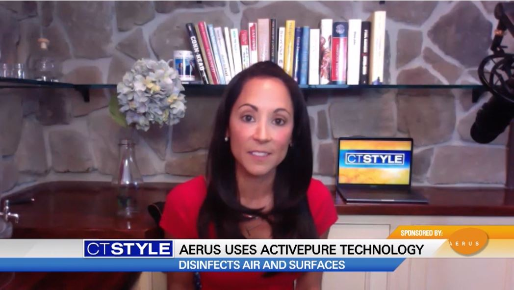news segment featuring anchorwoman talking about activepure