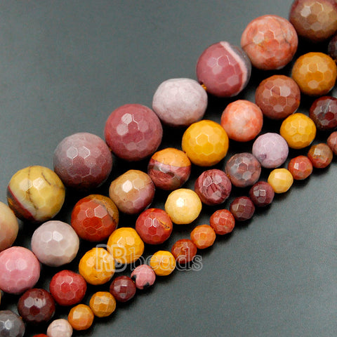 Faceted Moukaite beads