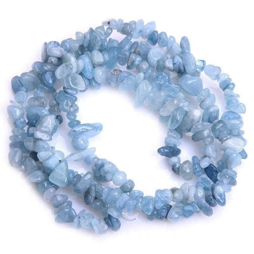Natural Aquamarine Chip Beads