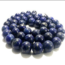 Load image into Gallery viewer, Enhancement Natural Blue Lapis Lazuli Beads, Round Gemstone 2-18mm, 15.5'' strand