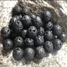 Load image into Gallery viewer, Black Lava Rock beads, Wholesale Gemstone, 4-12mm 5-200pcs