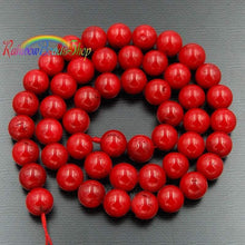 Load image into Gallery viewer, Red Coral Beads, Red Beads, Gemstone Beads, Round Natural Beads, Jasper Beads, Full Strand,  4mm 6mm 8mm 10mm 12mm - RainbowShop for Craft