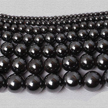 Load image into Gallery viewer, Natural Black Hematite Beads, Gemstone beads, Round Natural Beads, 2mm 3mm 4mm 5mm 6mm 7mm 8mm  9mm 10mm 12mm - RainbowShop for Craft