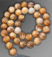 Load image into Gallery viewer, Jasper Picture Beads, Brown beads, Gemstone beads, Round Stone Natural Beads, 15''5 Full Strand, 2mm 3mm 4mm 6mm 8mm 10mm - RainbowShop for Craft