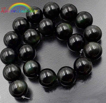 Load image into Gallery viewer, Natural Black Obsidian beads, Jewelry Gemstone, 4-20mm, 15.5'' strand
