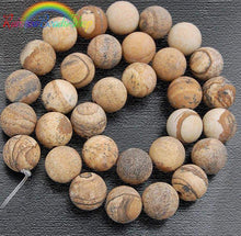 Load image into Gallery viewer, Natural Matte Picture Jasper Beads, Brown Gemstone Beads, Round Natural Beads 4mm 6mm 8mm 10mm 12mm - RainbowShop for Craft