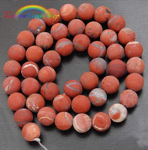 Load image into Gallery viewer, Matte Red Jasper Beads, Red Beads, Matte Beads, Matte Gemstone Beads, Round Natural Beads, Round Beads, Full Strand   4mm 6mm 8mm 10mm 12mm - RainbowShop for Craft