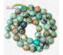Load image into Gallery viewer, African Blue Turquoise Beads, Blue Beads, Blue Gemstone Beads, Stone Beads, Round Natural Beads,  4mm 6mm 8mm 10mm 12mm - RainbowShop for Craft