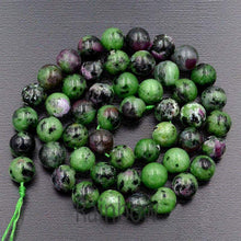 Load image into Gallery viewer, Natural Green Purple Ruby Zoisite beads, 4mm 6mm 8mm 10mm semi-precious Gemstone Beads, Stone Round Natural Beads, - RainbowShop for Craft