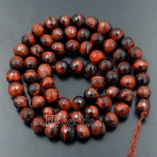 Load image into Gallery viewer, Natural Faceted Red Tiger Eye Beads, 4mm 6mm 8mm 10mm Gemstone Beads,  Round Jewelry Spacer Stone Beads, 15''5 strand - RainbowShop for Craft