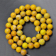 Load image into Gallery viewer, Natural Sea Sediment Yellow Jasper Beads, Yellow Gemstone Beads, Stone Beads, Round Natural Spacer Beads 6mm 8mm 10mm - RainbowShop for Craft