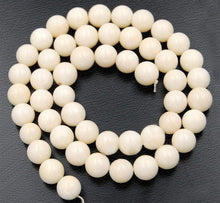Load image into Gallery viewer, Natural White Coral Beads, White Beads, White Gemstone Beads, Stone Beads, Round Natural Beads, 15''5 Full Strand, 2mm 3mm 4mm 6mm 8mm 10mm - RainbowShop for Craft