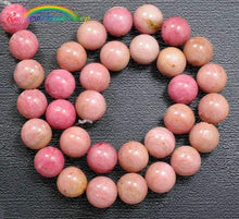 Load image into Gallery viewer, Rhodonite Beads, Pink Beads, Gemstone Beads, Round Natural Beads, Jewelry Stone Beads, Full Strand  4mm 6mm 8mm 10mm - RainbowShop for Craft