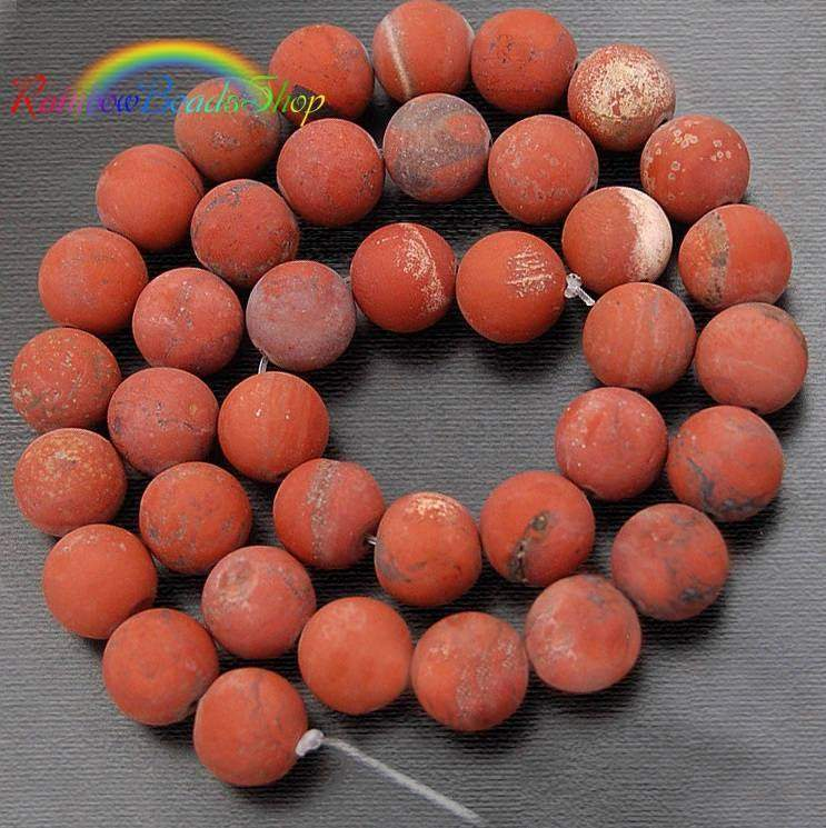 Matte Red Jasper Beads, Red Beads, Matte Beads, Matte Gemstone Beads, Round Natural Beads, Round Beads, Full Strand   4mm 6mm 8mm 10mm 12mm - RainbowShop for Craft