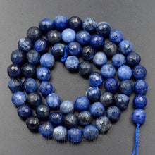 Load image into Gallery viewer, Natural Faceted Blue Sodalite beads, 4mm 6mm 8mm Sodalite beads, Round Jewelry Gemstone Stone Beads 15''5 st For Jewelry making and Beading - RainbowShop for Craft