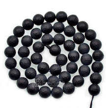 Load image into Gallery viewer, Natural Faceted Matte black Onyx Beads, Onix Gem 4mm 6mm 8mm 10mm Stone Round Jewelry Gemstone Beads, For Jewelry making and Beading - RainbowShop for Craft
