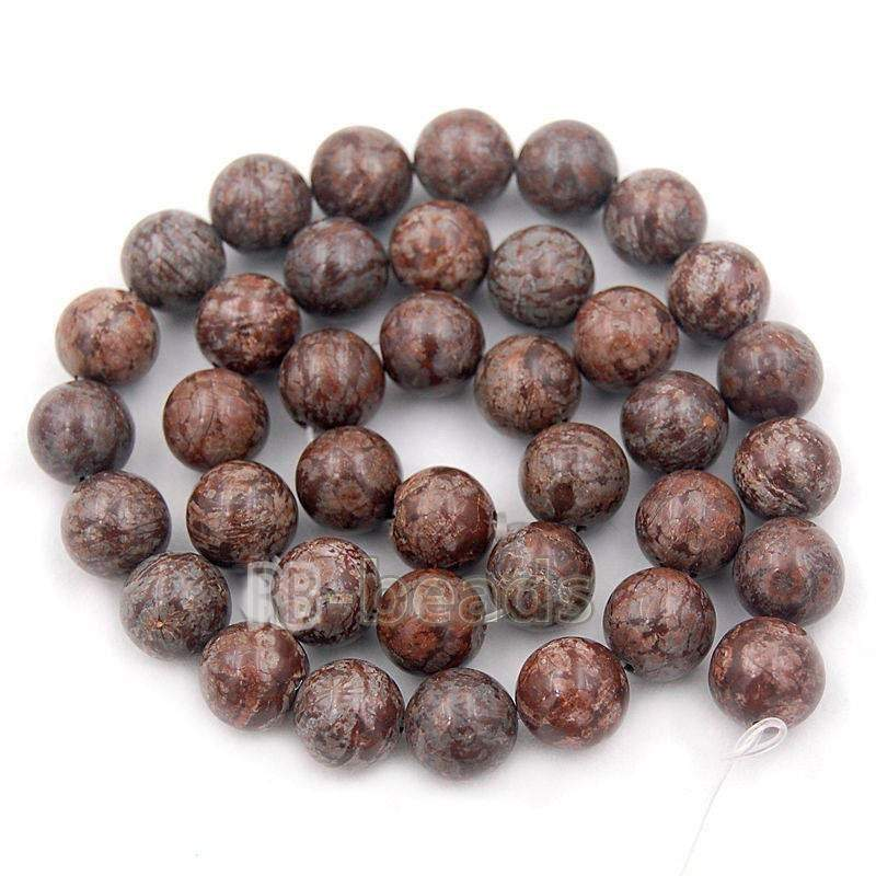 Natural Coffee Jasper Brown Beads, Gem 4mm 6mm 8mm 10mm Stone Round Jewelry Gemstone Beads, For Jewelry making and Beading - RainbowShop for Craft