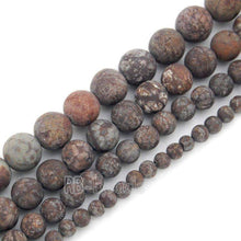 Load image into Gallery viewer, Natural Matte Frosted Coffee Jasper Brown Beads, Gem 4mm 6mm 8mm 10mm Stone Round Jewelry Gemstone Beads, For Jewelry making and Beading - RainbowShop for Craft
