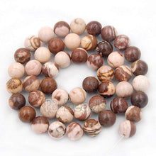 Load image into Gallery viewer, Natural Brown Mexican Zebra Jasper beads, 4mm 6mm 8mm 10mm Stone Round Jewelry Gemstone Beads, For Jewelry making and Beading - RainbowShop for Craft